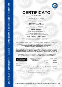 Securitaly Certificata ISO 14001